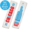 Chicago Burp Cloth Set