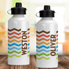Personalized Water Bottle: Wild Chevron