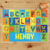 Personalized Beastly Boy Monster Alphabet Laminated Placemat