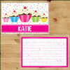 Personalized Sweet Sprinkle Cupcake Laminated Placemat