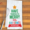 Personalized Merry Little Christmas Kitchen Towel