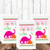 Personalized Party Favor Stickers: Pink Dinosaur