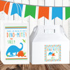 Personalized Party Favor Stickers: Blue Dinosaur