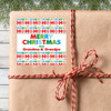 Personalized Ho Ho Ho Christmas Stickers