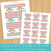 Personalized Ho Ho Ho Christmas Gift Labels