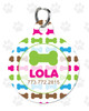 Personalized Pet Tag: Lil' Bones Pink Round