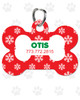 Personalized Pet Tag: Snowflake Bone