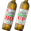 Funny Custom Christmas Wine Labels - Personalized Christmas Wine Bottle Stickers