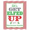 Funny Custom Christmas Wine Labels - Personalized Christmas Wine Bottle Stickers - Let's Get Elfed Up