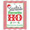 Funny Custom Christmas Wine Labels - Personalized Christmas Wine Bottle Stickers - Santa's Favorite Ho