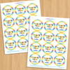 Personalized Party Favor Stickers: Beastly Boy Monster
