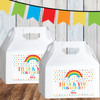 Personalized Party Favor Stickers: Happy Little Rainbow
