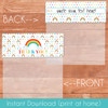 Printable Happy Little Rainbow Bag Toppers (Instant Download)