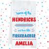 Personalized Little Firecrackers Kitchen Towel