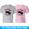 Personalized Rockstar Party Favor T-Shirts