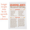 Personalized Fall Family Recipe Kitchen Towel