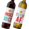 Personalized Festive AF Christmas Wine Labels