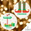 Personalized Lil' Elf Christmas Ornament 2020