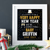 Personalized Happy New Year Pregnancy Announcement Sign