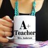 Personalized A+ Teacher Mug
