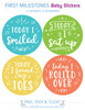 My First Year Milestone Baby Stickers: Beachy Blues
