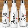 Personalized Script Heart & Arrow Stainless Steel Water Bottle