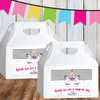 Personalized Party Favor Stickers: Magical Mod Unicorn