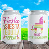 Custom Can Cooler: Fiesta Siesta Tequila Repeat - Mexico Theme Party Favor Slim Can Cozies