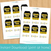 Printable Jedi Birthday Favor Tags (Instant Download)