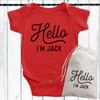 Personalized Hello Baby Shirt