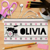 Personalized Drum Superstar Canvas Pencil Case (More Colors!)