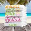 Custom Beach Towels: Beaches Booze & Besties