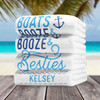 Personalized Beach Towels & Pool Towels for Boat, Nautical & Cruise Bachelorette or Birthday Gifts