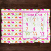 Personalized Baby Month Blanket: Pink Dinosaur