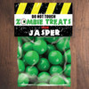 Personalized Zombie Treats Halloween Mini Favor Bag Kit