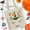 Personalized Halloween Unicorn Trick Or Treat Bag
