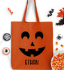 Personalized Pumpkin Face Trick Or Treat Bag