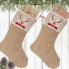 Personalized Christmas Stocking: Red-Nosed Reindeer