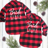 Diamond Bride and Bride Tribe Red Flannel Shirt