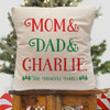 Personalized Making A List Christmas Throw Pillow Cover