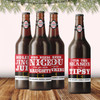 Personalized Santa Belly Christmas Beer Labels