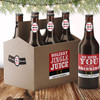 Personalized Santa Belly Beer Labels - Custom Christmas Bottle Stickers & Bottle Carriers