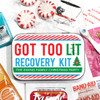 Custom Party Favor Tins: Got Too Lit Christmas Hangover Recovery Kit