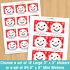Personalized Red Snowman Holiday Gift Stickers