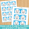 Personalized Blue Snowman Holiday Gift Stickers