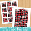 Personalized Perfectly Plaid Holiday Gift Stickers