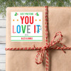 Personalized Pretend You Love It Christmas Gift Stickers