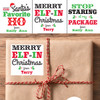Personalized Merry Elf-In Christmas Gift Stickers