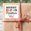 Personalized Merry Elf-In Christmas Gift Labels