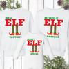 Personalized Family Elf Christmas Sweatshirts